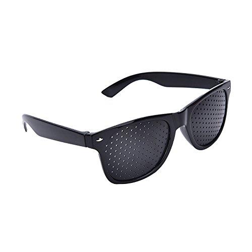 9e1f0e48385 Ocamo Anti-Fatigue Stenopeic Eyesight Improver Pinhole Unisex Eyeglass ( Black)  Amazon.in  Clothing   Accessories