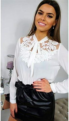 CHZDNSCS Camisa Moda Mujer De Manga Larga De Encaje Floral Camisas Elegantes Dama Suelta Tops Blancos Blusas: Amazon.es: Deportes y aire libre