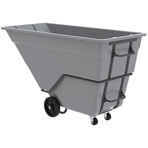 Akro Mils   Myers Industries   77710Grey   Tilt Truck  Heavy Duty  1 1 2 Cu  Yd   Gray