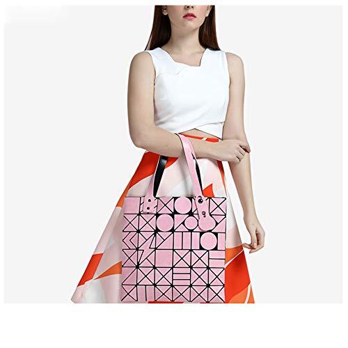 Donna A Pink Cuciture Geometriche Moda Borsa Mano Pu TcgUAWWq