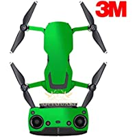 SopiGuard 3M Gloss Green Precision Edge-to-Edge Coverage Vinyl Sticker Skin Controller 3 x Battery Wraps for DJI Mavic Air