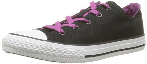 Converse Ct Dt Anim Ox, Unisex - Kinder Sneaker Schwarz - Noir (Noir/Violet)