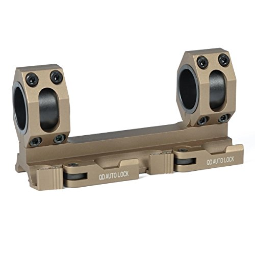 Green Blob Outdoors GBO - QD -DE Scope Rings Mount Top Rail 30mm - 1 inch Ring Tactical Recon for Burris, Nikon, Leupold, Vortex, UTG