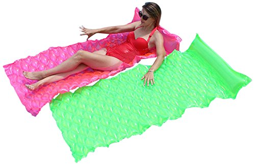 - SunSplash Smart Float for Swimming Pools, Green and Pink 2-Pack