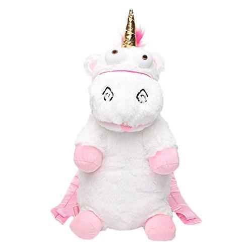 GUCHIS Plush Unicorn Backpack Fluffy Toys Knapsack for Girls Kids Birthday (The Little Girl From Despicable Me)