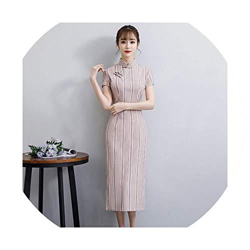 Cheongsam Fashion Chinese Style Dress Womens Qipao Slim Party Dresses,XL -