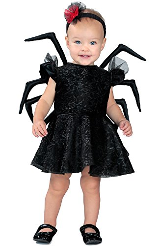 Princess Paradise Baby Widow Deluxe Costume, Black 12 to 18 Months ()
