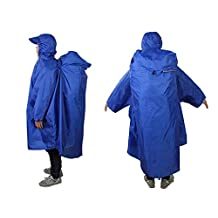 Bluefield Water Proof Nylon Raincoat One-piece Cloak Hiking Camping Climbing Fishing Snowing Cape Backpack Cover for Outdoor