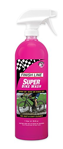 Base Cleaner Liquid - Finish Line Super Bike Wash Concentrate Bicycle Cleaner, 1 Liter (33.8-Ounce) Spray Bottle