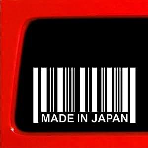 Fabricado en Japón Código de Barras adhesivo–vinilo de vinilo JDM, JDM, Car Truck Importación