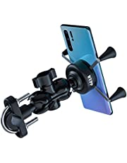 TURN RAISE Pro Motorcycle X-Grip Motorbike Cell Phone Holder with 2.1A USB Charging Port for iPhone 5 5s 6 6Plus iPhone 8 X Samsung Galaxy HTC Huawei GPS, Sony fit for 3.5-6 Inches Screen