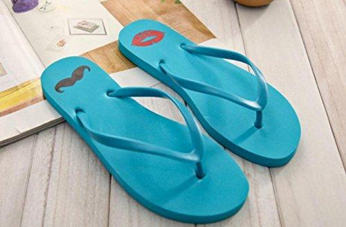 mhgao Ladies Casual zapatillas zapatillas de Creative Lips Cartoon azul