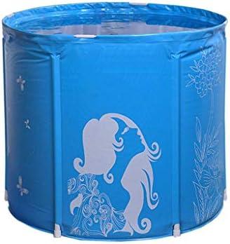 ZJHDX 折りたたみバケツ風呂、水容器、キャンプ用ポータブル軽量バケツ、コンビニインフレータブルプラスチックバースバレル
