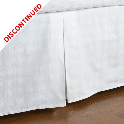 Ralph Lauren Suite Glen Plaid Bedskirt White - King (Cottage Plaid Bedskirt)