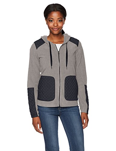Columbia Women's Warm up Hooded Fleece Full Zip Jacket, Charcoal Heather, (Columbia Warmer)