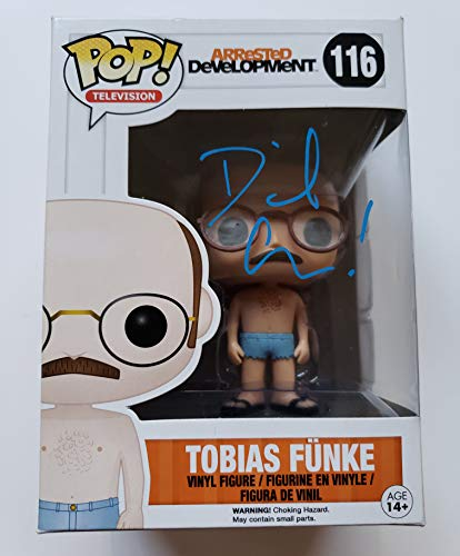 David Cross autographed Funko Pop Figure Beckett Tobias Funke Arrested Development + FREE Pop Protector