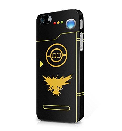 Pokemon GO Team Instinct Themed Pokedex Hard Plastic Snap-On Case Skin Cover For iPhone 5 / iPhone 5s / iPhone SE
