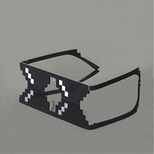 1be848d3ec Fashion DEAL WITH IT Glasses Mosaic Sun Glasses Minecraft Thug Life  Sunglasses Women Men Around the World double row  Amazon.in  Home   Kitchen