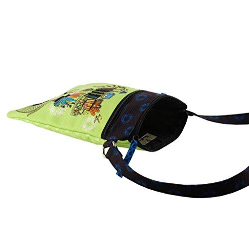 zipper Brain tote purse smooth bag travel girls shoulder slingbag Bridge Cycle women Crossbody nHpWxRw
