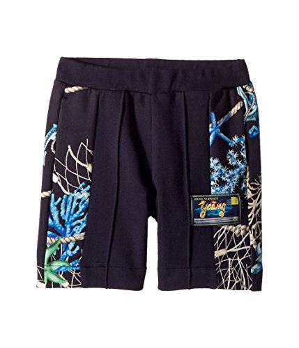 Versace Kids Baby Boy's Shorts w/Sea Shore Design on Sides (Toddler/Little Kids) Navy 4A by Versace