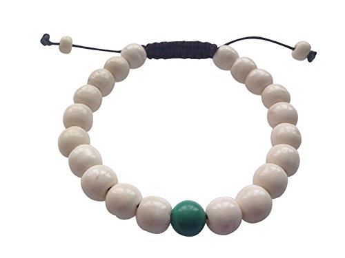 Tibetan Turquoise Jewelry (Tibetan Mala Yak Bone Wrist Mala Bracelet for Meditation (Tibetan turquoise))