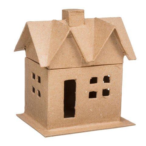 Bulk Buy: Darice DIY Crafts Paper Mache House Box Small 6 in (8-Pack) (Papier Mache House)