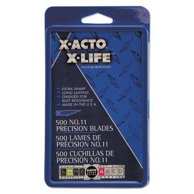 ELMERS Products, INC X511#11 Bulk Pack Blades for X-Acto Knives, 500/Box