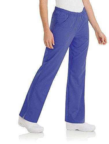 (Urbane Ultimate Women's Alexis Elastic Waist Scrub Pant Small Petite Blu Iris)