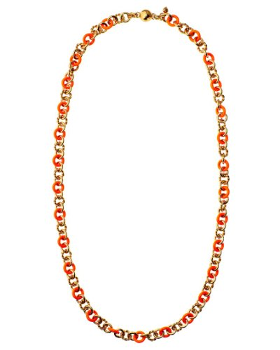 Juicy Couture Enamel And Rope Chain Strand Necklace, Orange ()