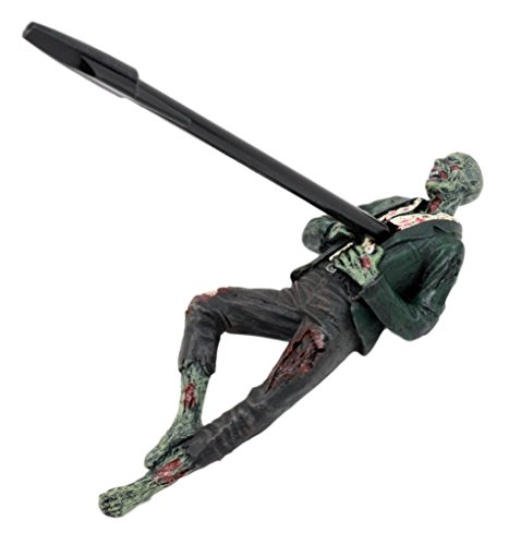 (Ebros Gift Walking Dead Zombie Hunter Pen Holder Figurine 6.75