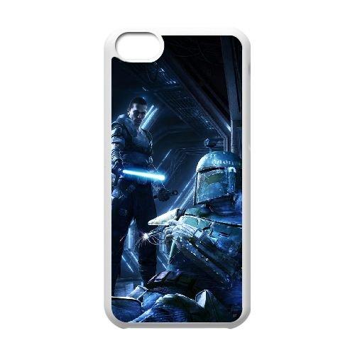 Star Wars The Force Unleashed 2 2 coque iPhone 5c cellulaire cas coque de téléphone cas blanche couverture de téléphone portable EEECBCAAN00079