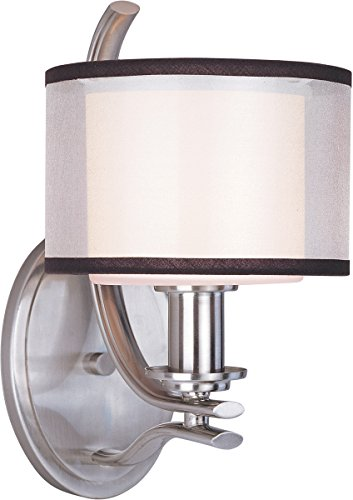 Wall Sconces 1 Light Bulb Fixture with Satin Nickel Finish Medium Bulb Type 7 inch 100 Watts - Orion 1 Light Collection