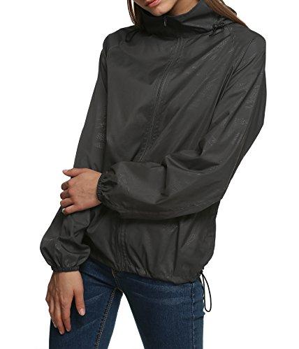 Ligera Senderismo Chaqueta Gris Para Aire Con Zeagoo Mujer Y Impermeable Transpirable Capucha Libre Al Hq8WWwaF