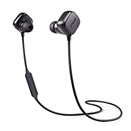 Anker SoundBuds Sport IE20 In-Ear Bluetooth Earbuds, Smart Magnetic Wireless Headphones with aptx, CVC 6.0 Noise Cancellation, 8-Hour Playtime, Bluetooth 4.1 Headset with Mic, iPhone 7 Compatible
