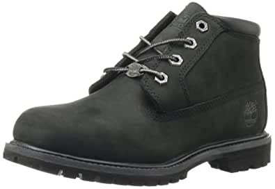 Timberland Women's Nellie Double WP Ankle Boot,Black,5 W US