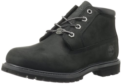 Timberland Women's Nellie Double Waterproof Ankle Boot,Black,7.5 M US Toddler -
