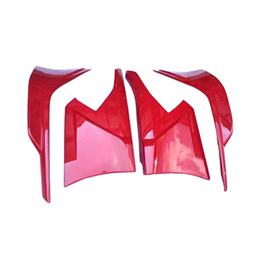 HIGH FLYING 4pcs ABS Plastic Front&rear Lips Bottom Bumper Diffuser Protector For Honda Civic 4dr Sedan 2016 2017 2018 (RED)