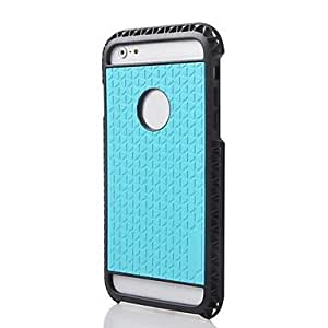 PG 2014 New 2 in 1 Rugged Hybrid Hard/Soft Drop Impact Resistant Protective Case Cover for iPhone 6 Plus (Blue)