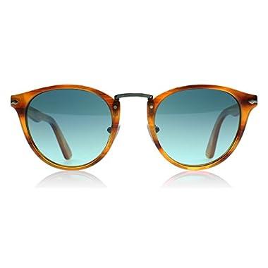 1819a910d4 Persol Mens Sunglasses (PO3108) Brown Blue Acetate - Polarized - 49mm