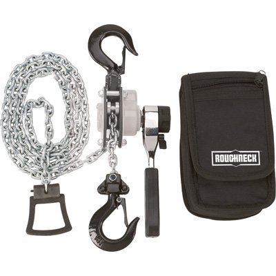 Roughneck Manual Lever Chain Hoist - 1/4-Ton Capacity, 12in. Head Room