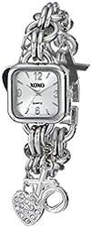 XOXO Women's XO7026 Silver Dial Silver-tone Charm Bracelet Watch