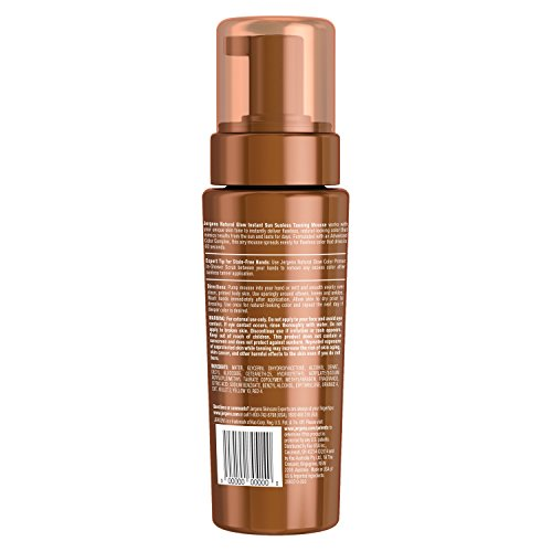 Jergens Natural Glow Instant Sun Sunless Tanning Mousse for Body, Light Bronze, 6 Ounces by Jergens (Image #1)