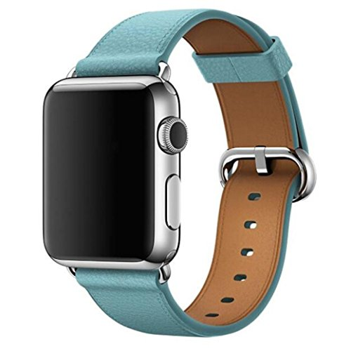 Light Blue Leather Band - 3