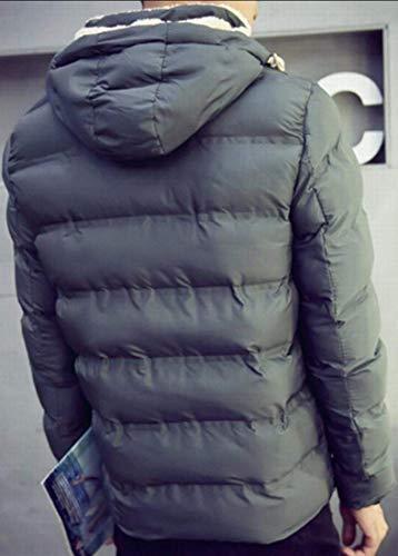 Vêtements Army Medium couleur Taille Pour Manteau Hommes Matelassé Capuche Kangqi De À Green TqdRgq