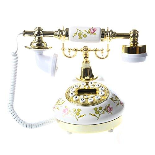 (SODIAL(R)Antique Designer Phone nostalgia telescope vintage telephone made ??of ceramic)