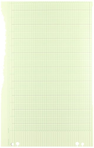 Wilson Jones Green Columnar Ruled Ledger Paper  Double Page Format  30 Columns And 36 Lines Per Page  11 X 17 Inches  100 Sheets Per Pack  Wg50 30A