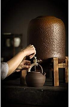 Ashtray Horno de cerámica esmaltado Viejo Cilindro de Barro de Roca con Grifo de cerámica Grande purificador de Agua Tanque de Almacenamiento de Agua hogar (Size : A): Amazon.es: Hogar