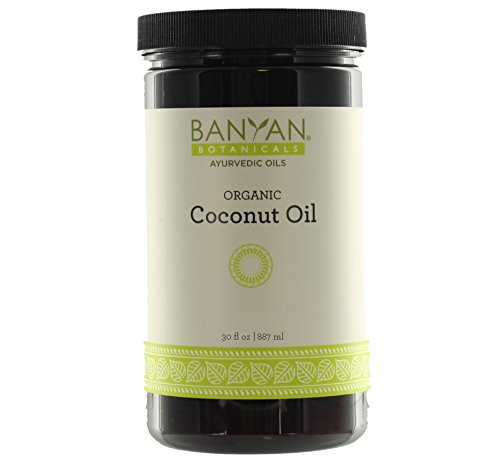 Banyan Botanicals Coconut Oil, Certified Organic, Wide-Mouthed Jar, 30 oz - Pure, Refined - A Good Massage Oil for - Botanicals Coconut