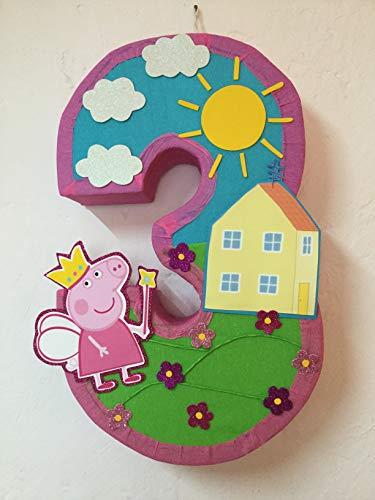 Beautiful Peppa Pig number pinata, Peppa pig birthday party, Peppa pig party, Peppa pig party decorations, Peppa pig party supplies, Peppa Pig birthday, Peppa pig party theme