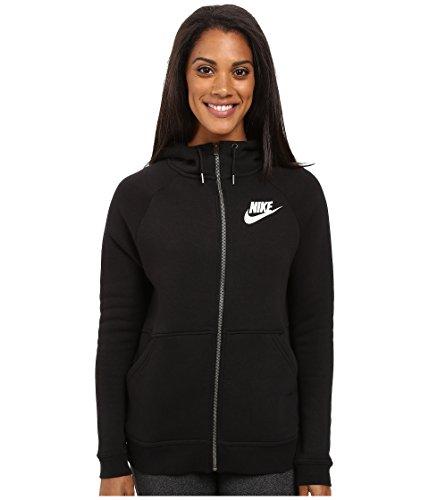 Nike Rally Full-Zip Hoodie (X-Large, Black/Black/Antique Silver/White)